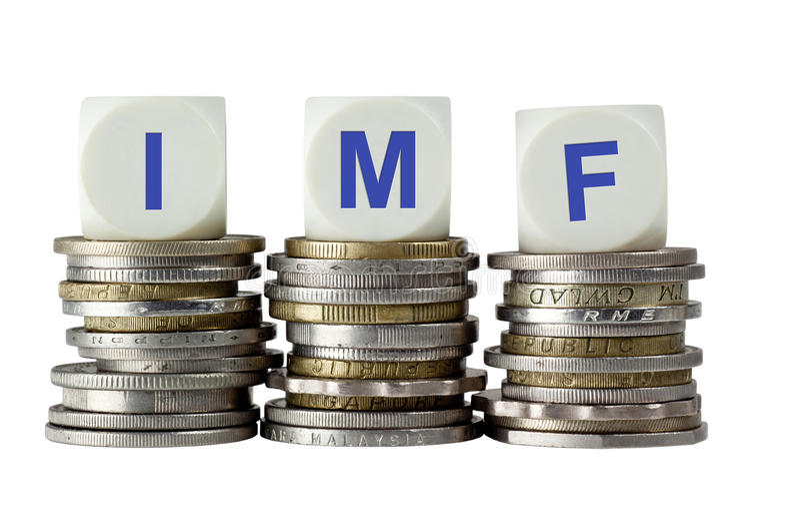 IMF - Internationell valutafond royaltyfria foton