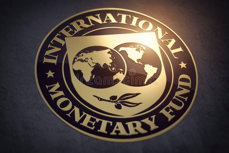 IMF - symbool of -teken van het Internationaal Monetair Fonds royalty-vrije illustratie