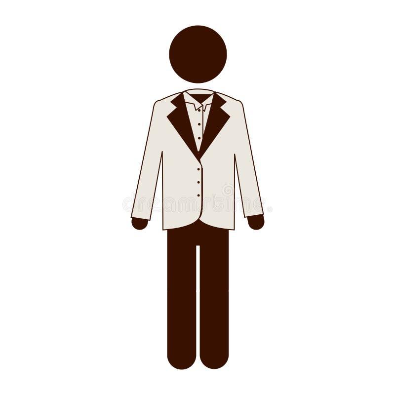imge del icono del traje del hombre ilustración del vector