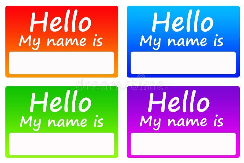 imię etykietki ilustracji