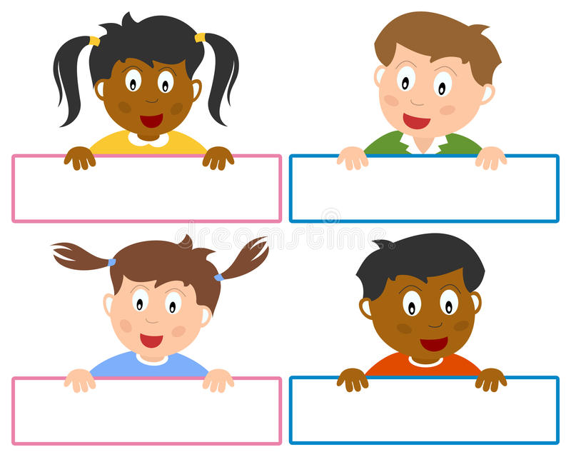 Imię etykietki dla dzieciaków ilustracja wektor