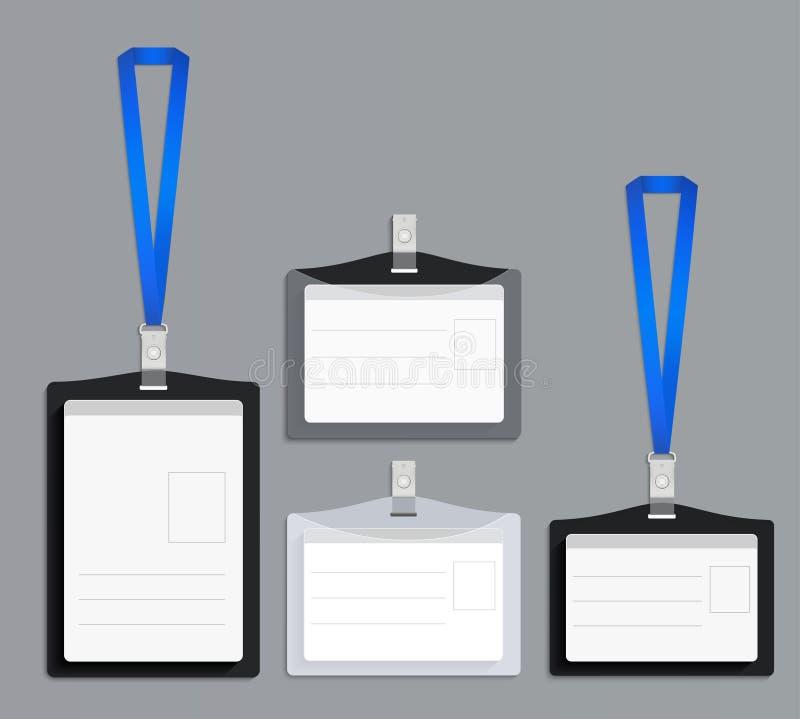 Imię etykietki odznaka, rozwieracz ilustracja wektor