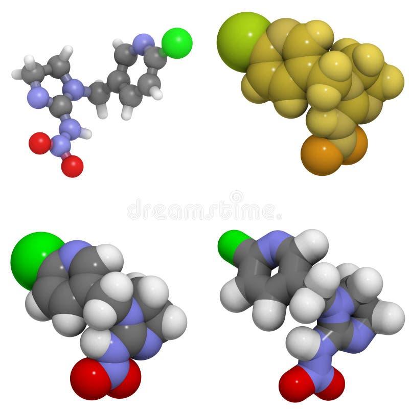 Imidacloprid Molekül stock abbildung