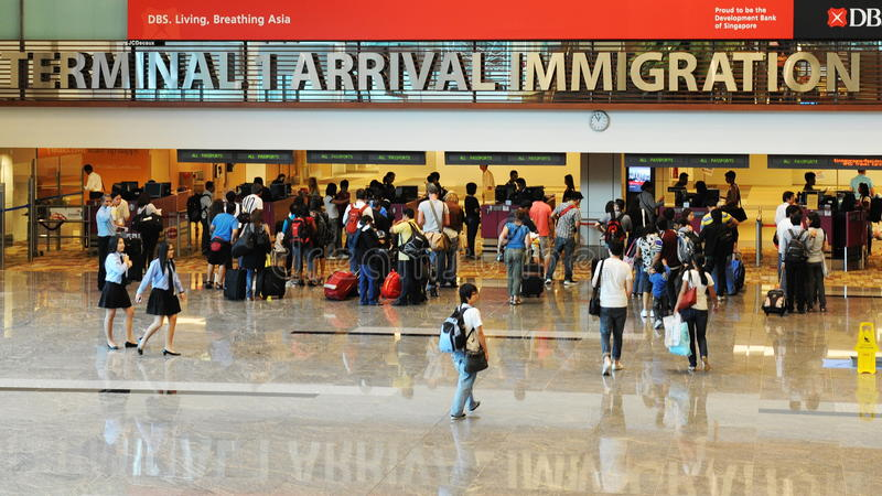 Imigração do aeroporto fotos de stock royalty free