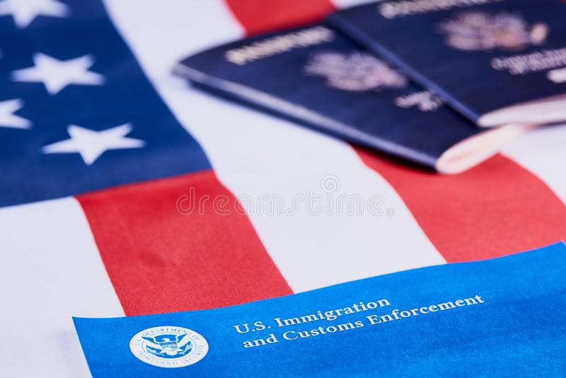 Imigracja i Customs egzekwowanie obrazy stock