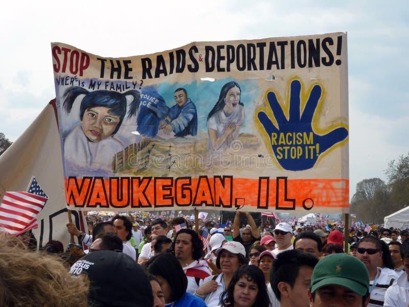imigracyjny prawa protesta znak zdjęcia royalty free