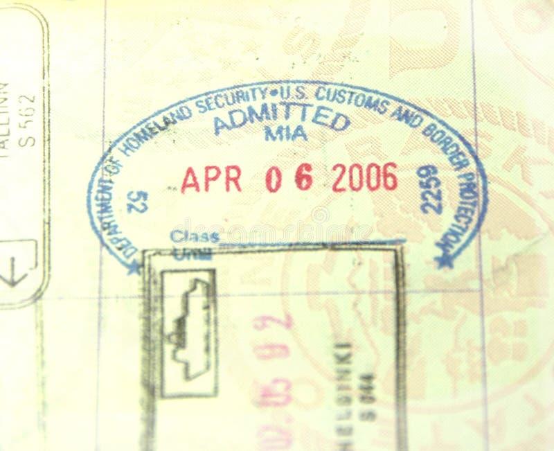 imigracyjny zwyczaju paszport s stemplowy u obrazy stock