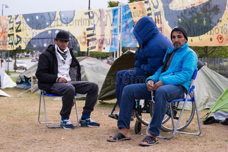 Imigrantes de Gaza - Suécia 2015 foto de stock royalty free