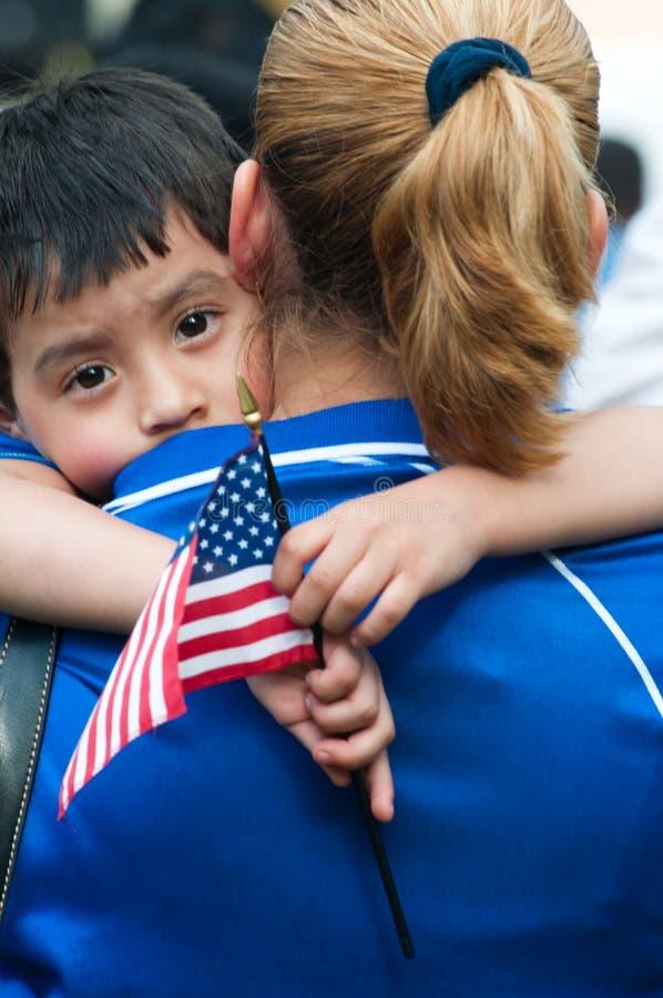 imigrujący rodzina marsz obrazy stock