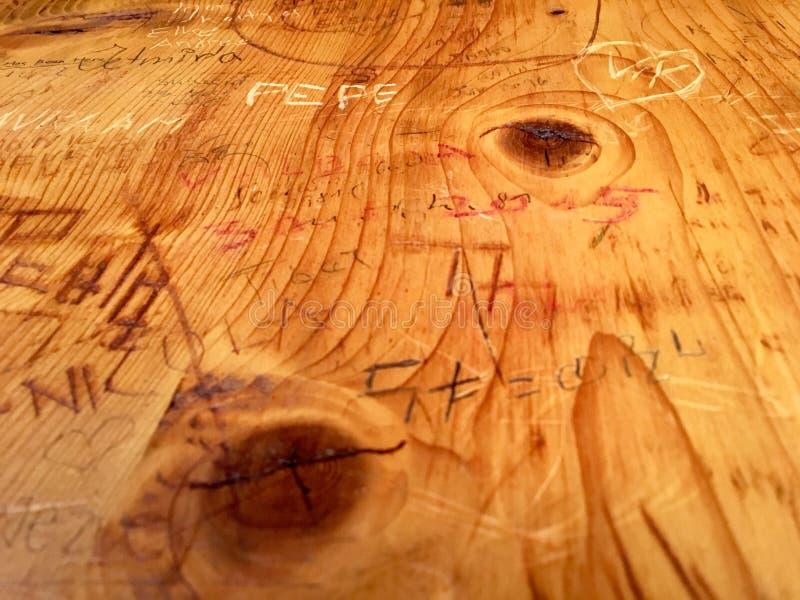 Imiona grawerujący w drewnie ilustracji