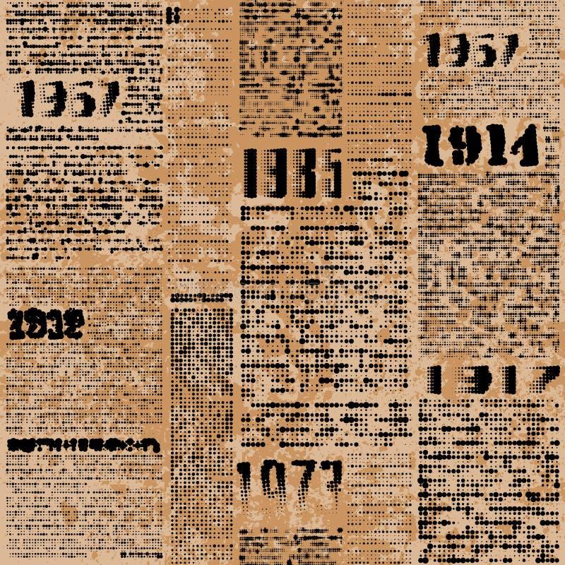 Imitação do jornal ilustração royalty free