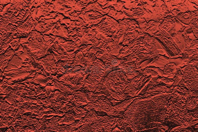 A imitação do vermelho enrugou a folha, backround abstrato brilhante foto de stock royalty free