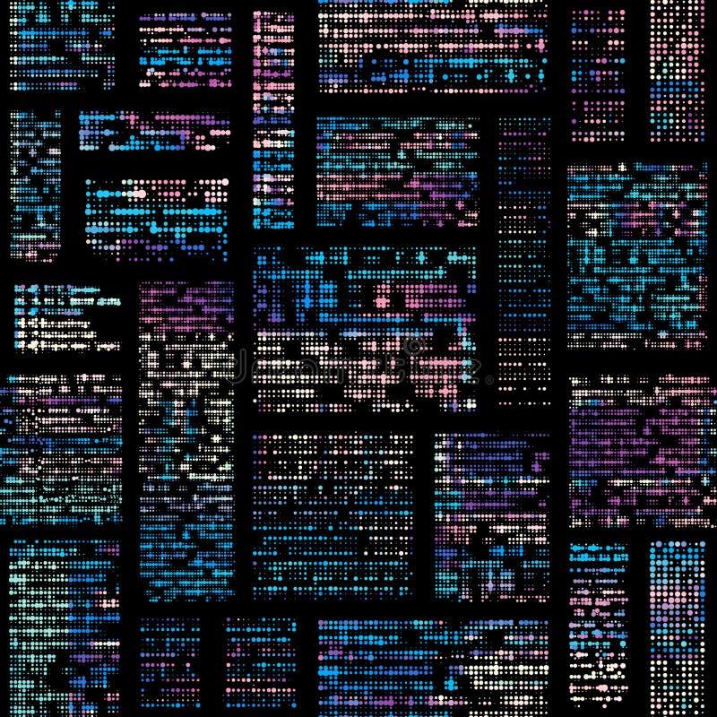 Imitación de un periódico abstracto del vintage texto ilegible stock de ilustración