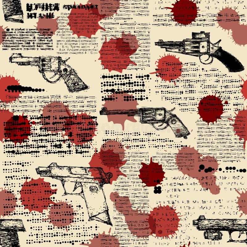 Imitación del periódico retro con las imágenes de libre illustration