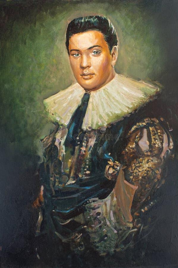 Imitación del retrato antiguo, el extranjero stock de ilustración