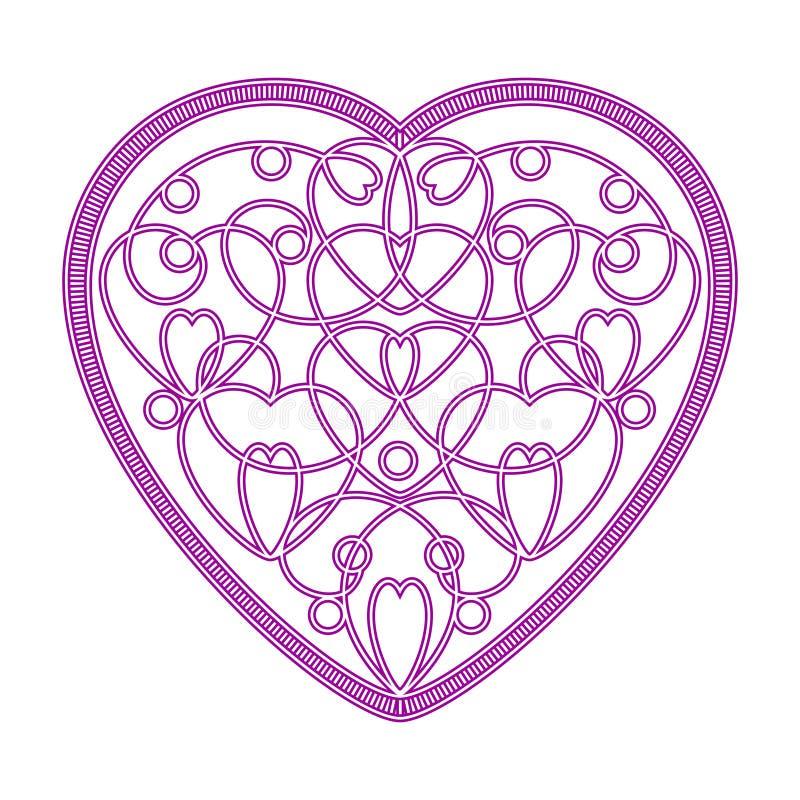Imitacja haftujący wzór serca zdjęcia royalty free