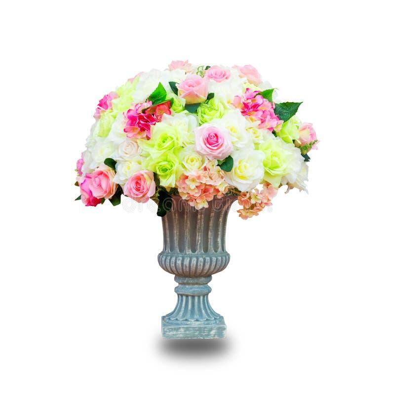 Imitacja kwiaty odizolowywający na białym tle , To przycinać pa fotografia stock