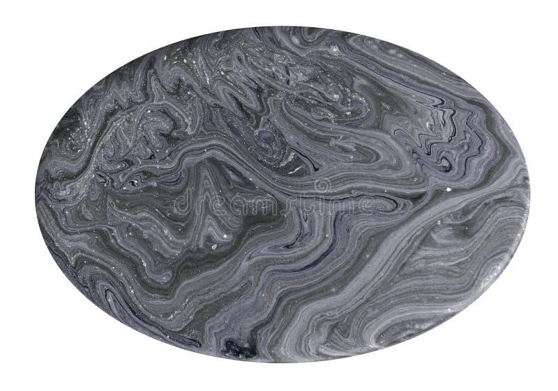 Imitacja przekroju poprzecznego gemstone tekstura Naturalna marmurowa tekstura odizolowywająca na białym tle Kopalina kamień obraz royalty free