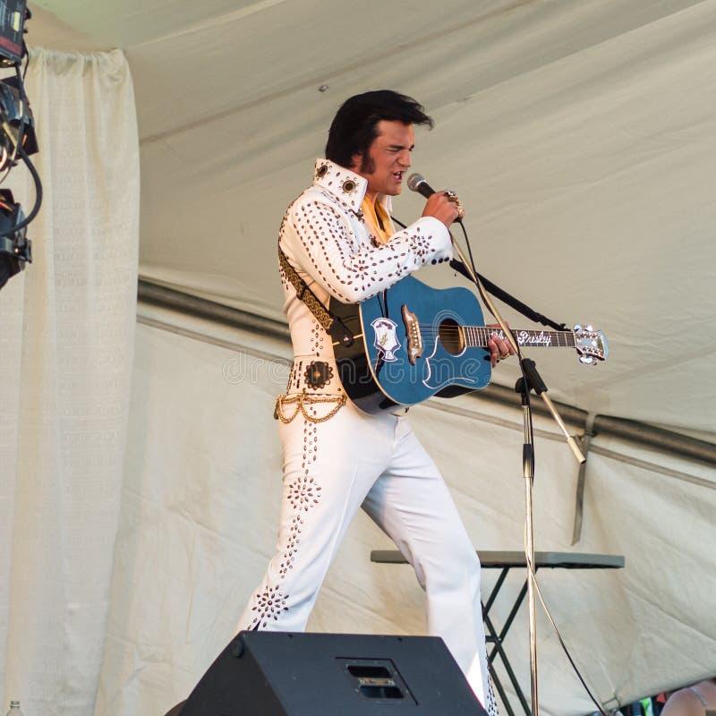 Imitateur d'Elvis images stock