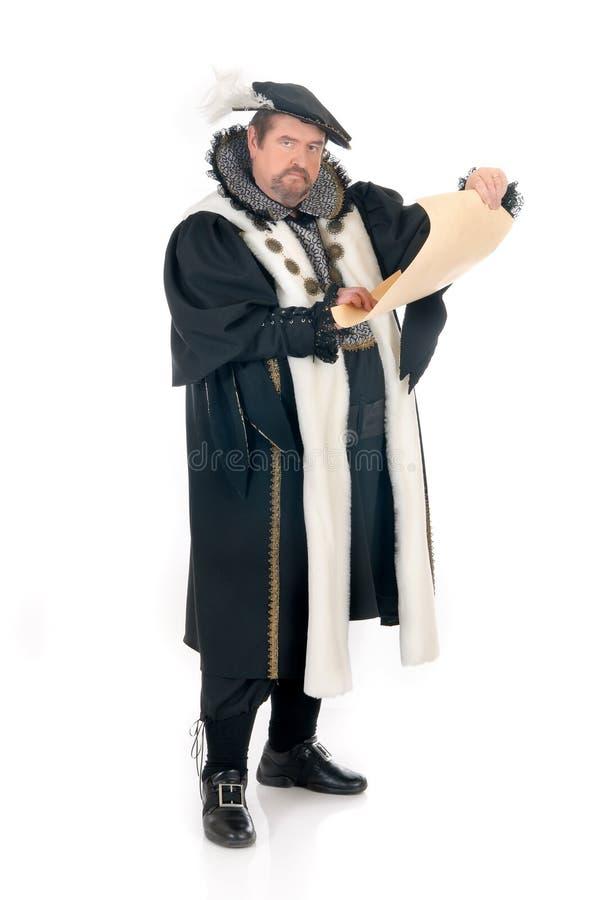Imitateur de Shakespeare d'homme photos libres de droits