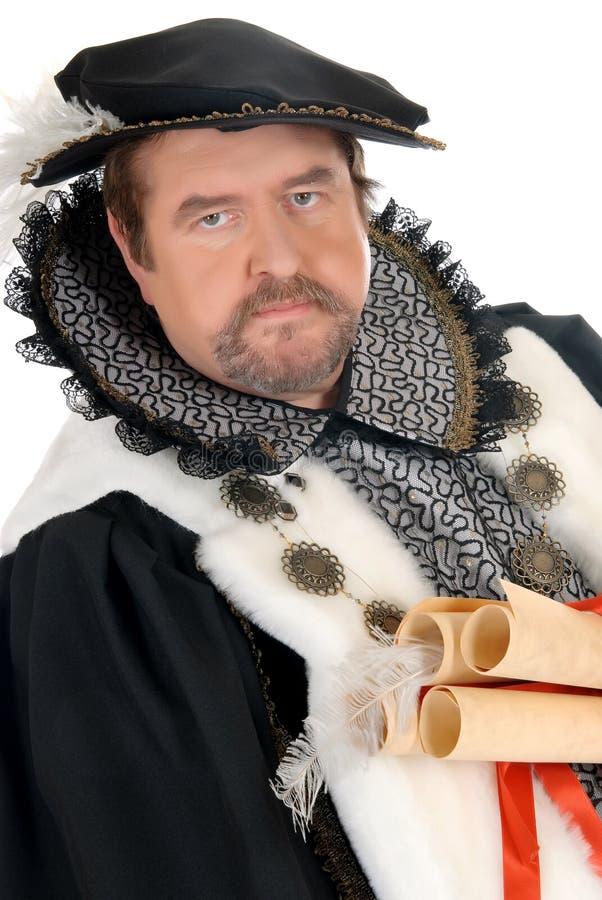 Imitateur de Shakespeare d'homme image libre de droits