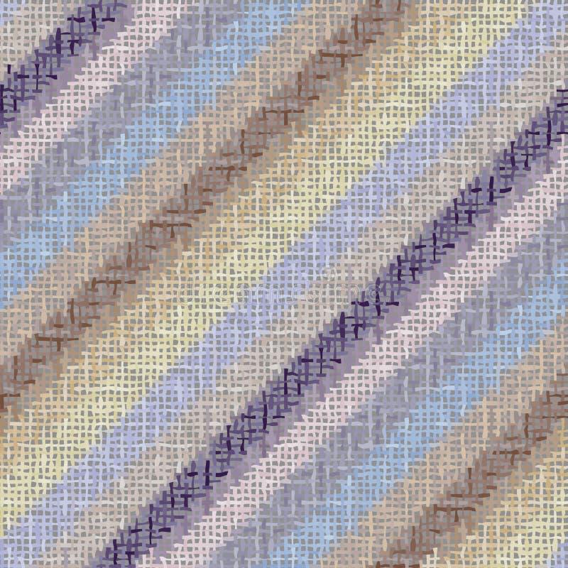 Imitatie van een structuur van ruw canvas Naadloos patroon royalty-vrije illustratie