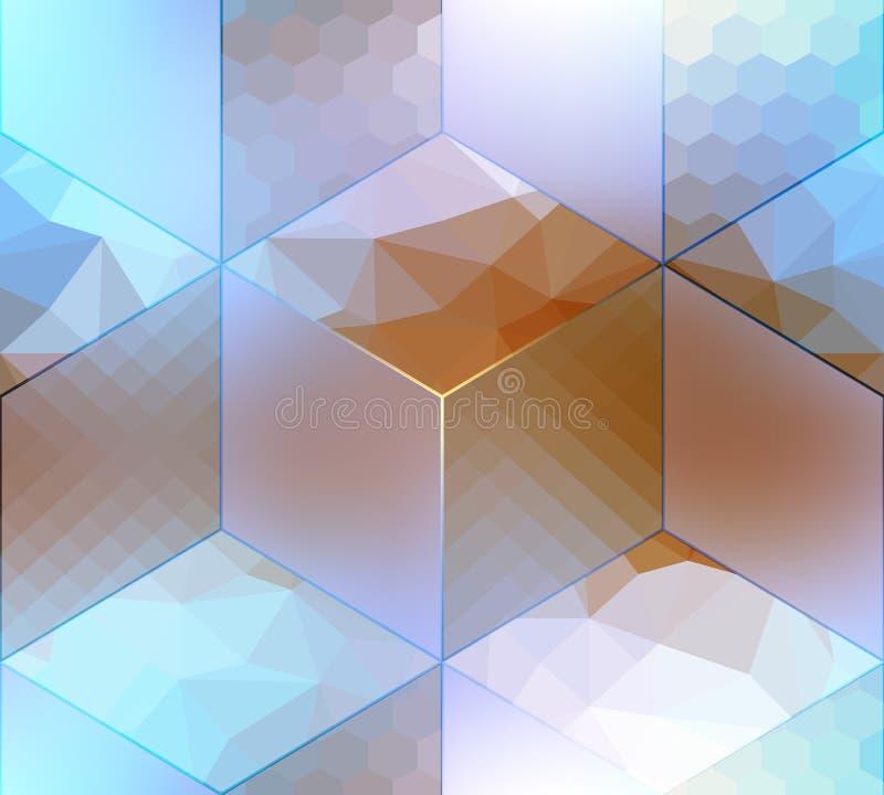 Imitatie van kubussen met verschillende oppervlakten vector illustratie
