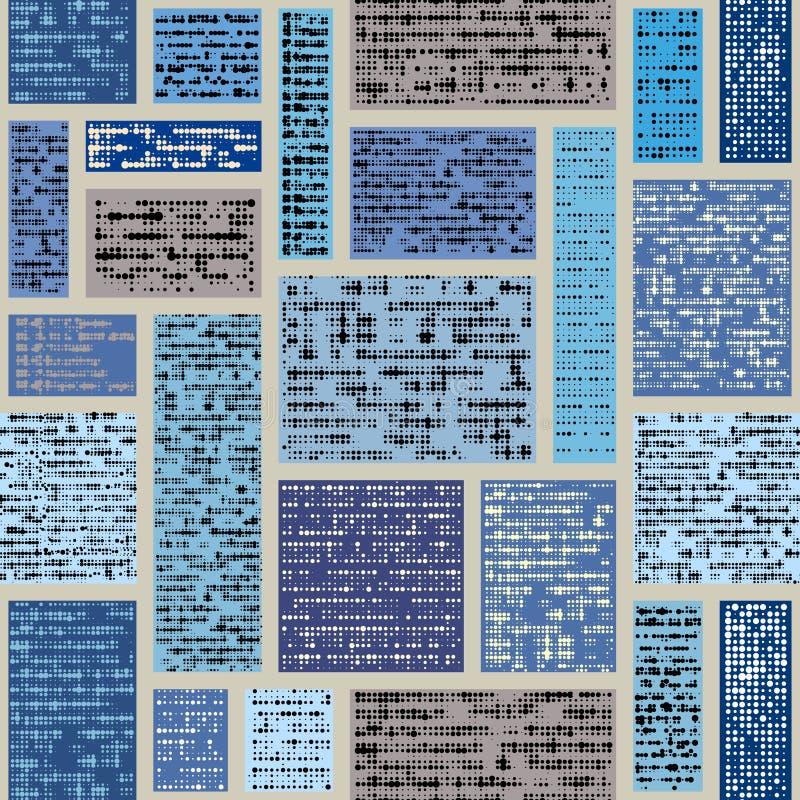 Imitation d'un journal abstrait de cru texte illisible illustration stock