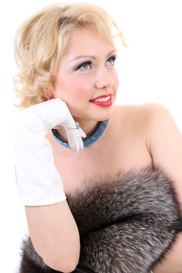 Imitation de Marilyn Monroe photos libres de droits
