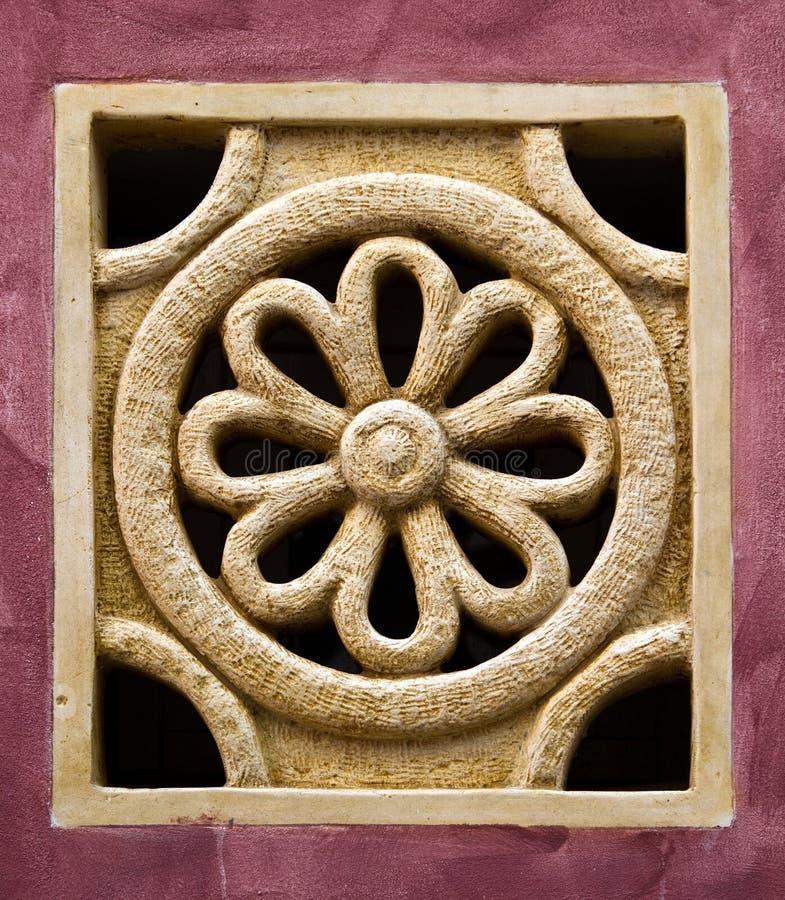 Imitation miniature de fenêtre rose photographie stock libre de droits
