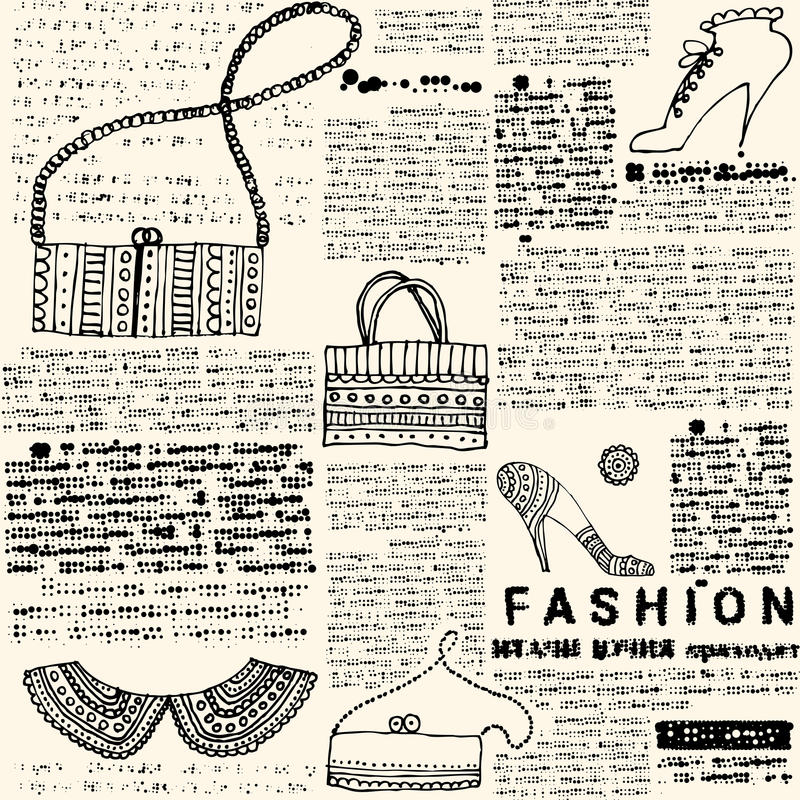 Download Imitation Newspapers Of Fashion Stock Vector - Image: 33470156