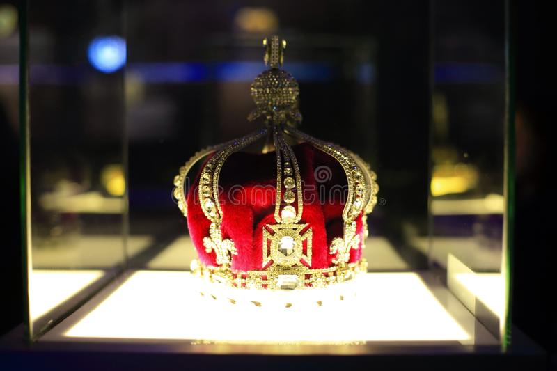 The imitation of queen mary's crown 1911 stock photography