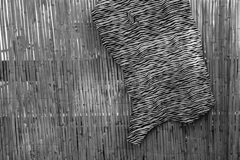 Imitation zebra leather texture background. Imitation zebra leather animal texture background in black and white stock image
