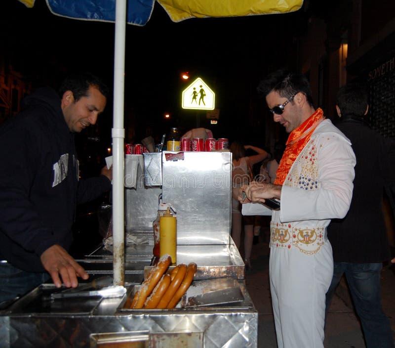 Imitatore di Elvis a New York City immagine stock