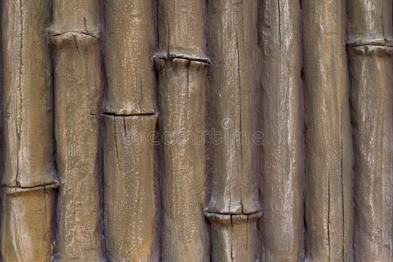 Imitazione del gesso dello stucco dei tronchi di bambù sottragga la priorit? bassa fotografie stock libere da diritti