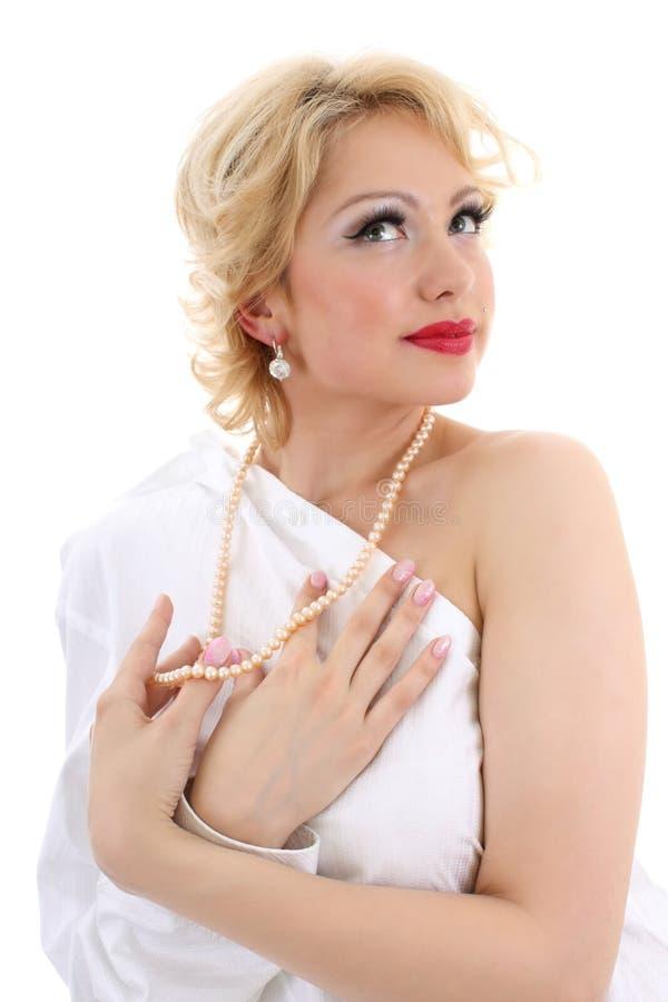 Imitazione di Marilyn Monroe. Ragazza di sogno fotografie stock libere da diritti