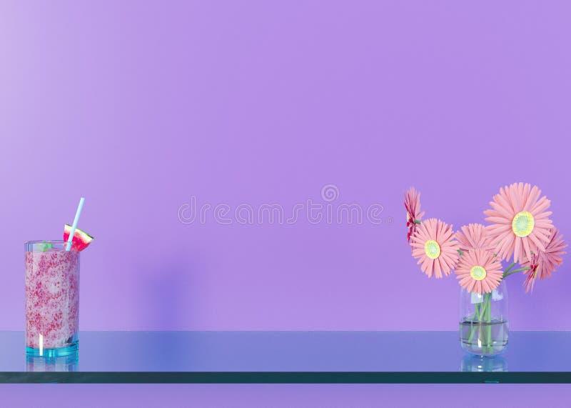 Imite encima de marco del cartel en el fondo interior del concepto del verano, ejemplo 3D, rinda libre illustration