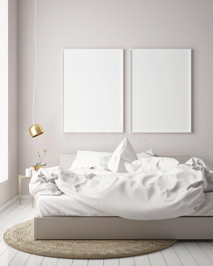 Imite encima de marco del cartel en el fondo interior del inconformista, estilo escandinavo libre illustration