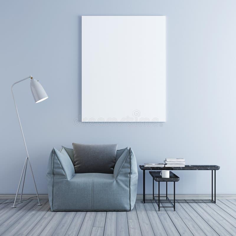 Imite encima del cartel con el fondo en colores pastel del interior del desván del minimalismo del inconformista del vintage libre illustration