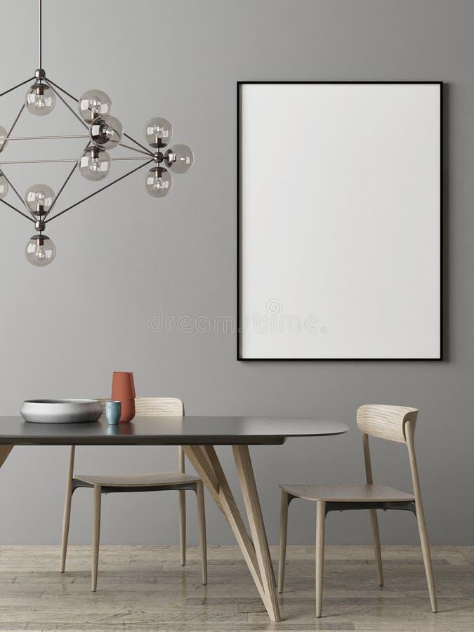 Imite encima del cartel, diseño escandinavo del sitio de Dinning, libre illustration