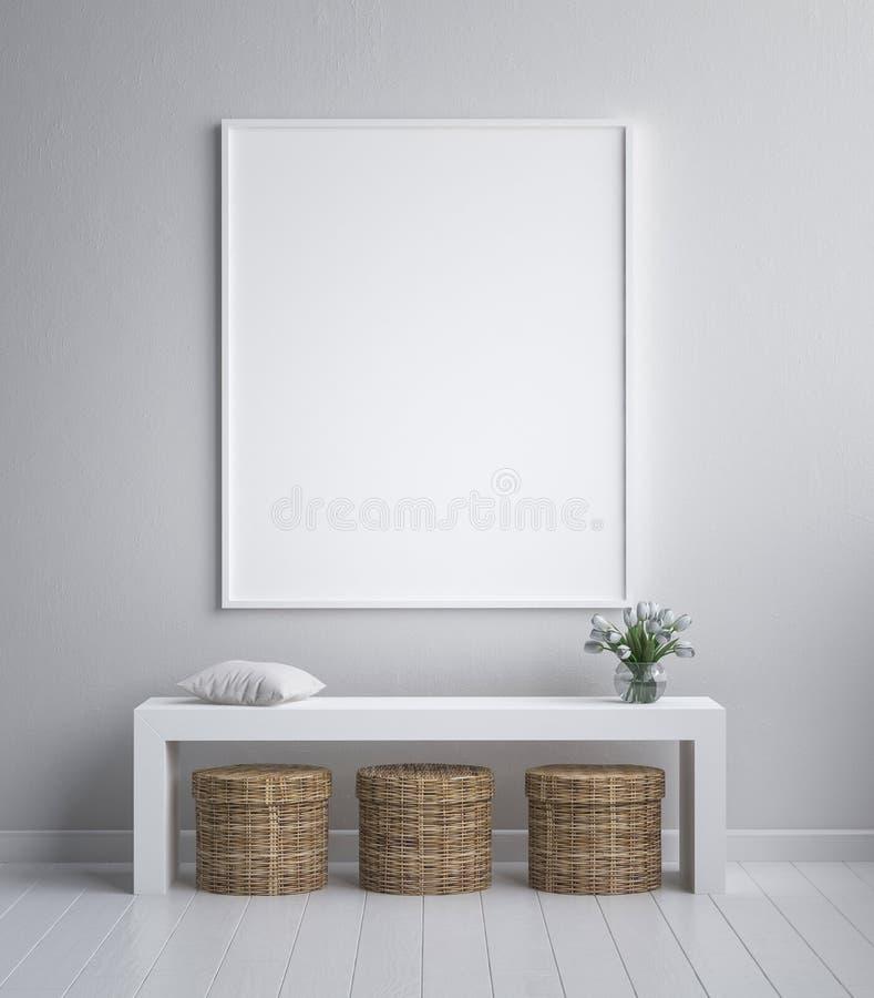 Imite encima del marco del cartel, minimalismo interior, diseño escandinavo ilustración del vector