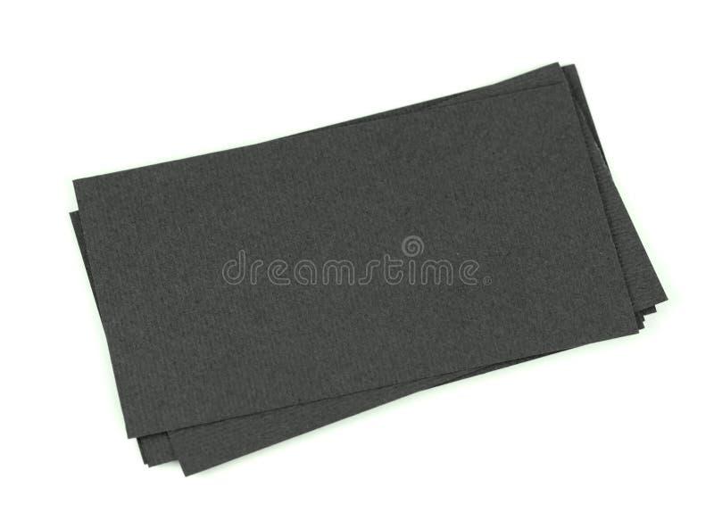 Imite para arriba de tarjetas de visita en blanco negras avivan la pila Diseño de la identidad, plantillas corporativas, estilo d fotos de archivo libres de regalías