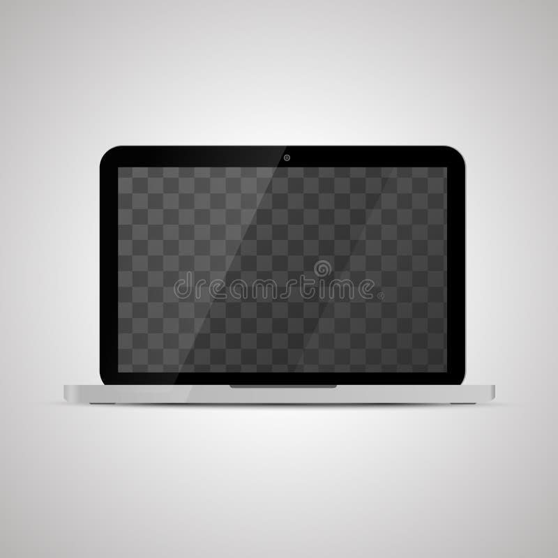 Imite para arriba del ordenador portátil brillante realista con el lugar transparente para la pantalla libre illustration