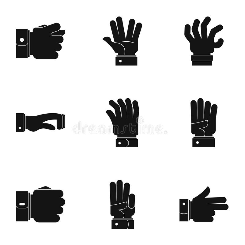 Imiteer geplaatste pictogrammen, eenvoudige stijl royalty-vrije illustratie