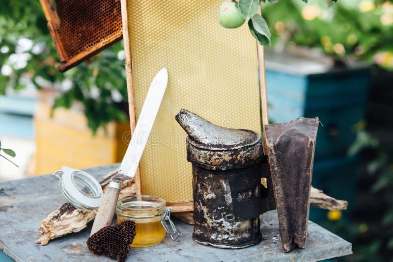 imkerij De honingraat van de Pasikahoning royalty-vrije stock afbeelding