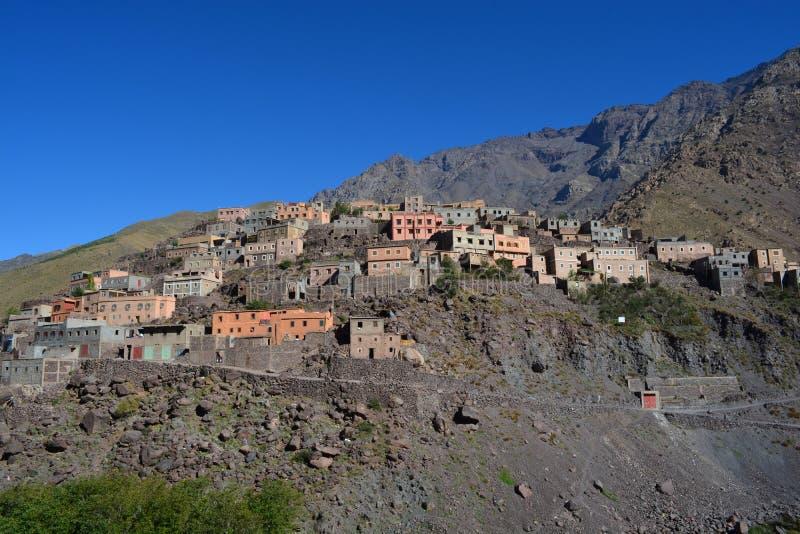 Imlil在摩洛哥 北非 免版税图库摄影