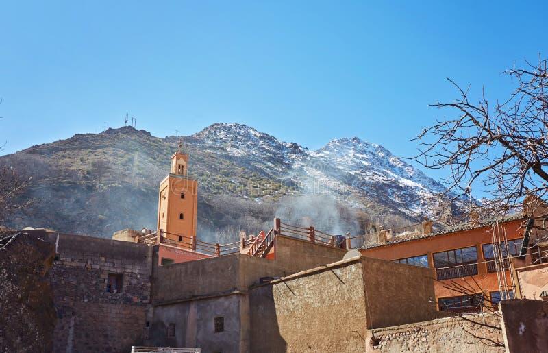 Imlil miasto w atlant górach obraz stock