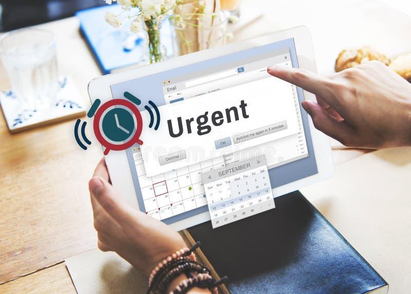 Immédiatement concept important nécessaire urgent prioritaire d'urgence image stock