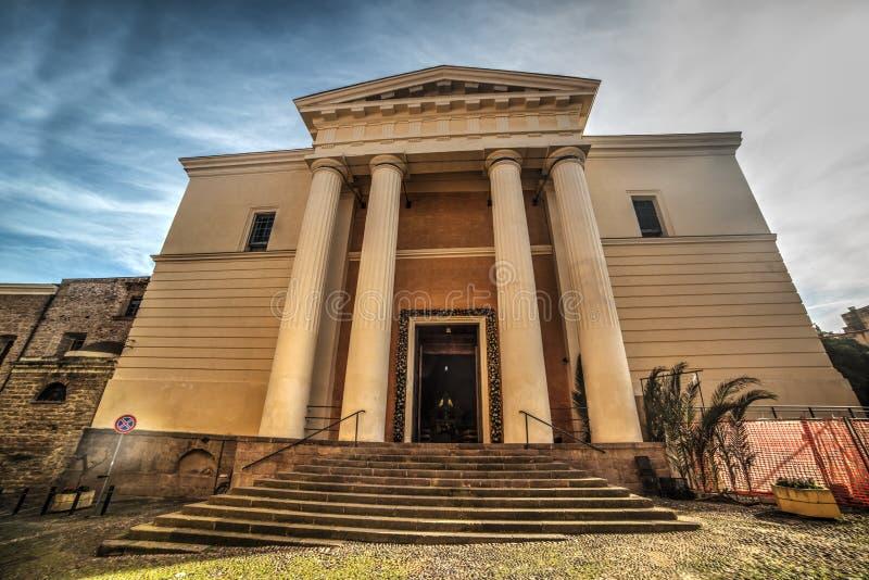 Immacolata Concezione大教堂正面图在阿尔盖罗 免版税库存图片