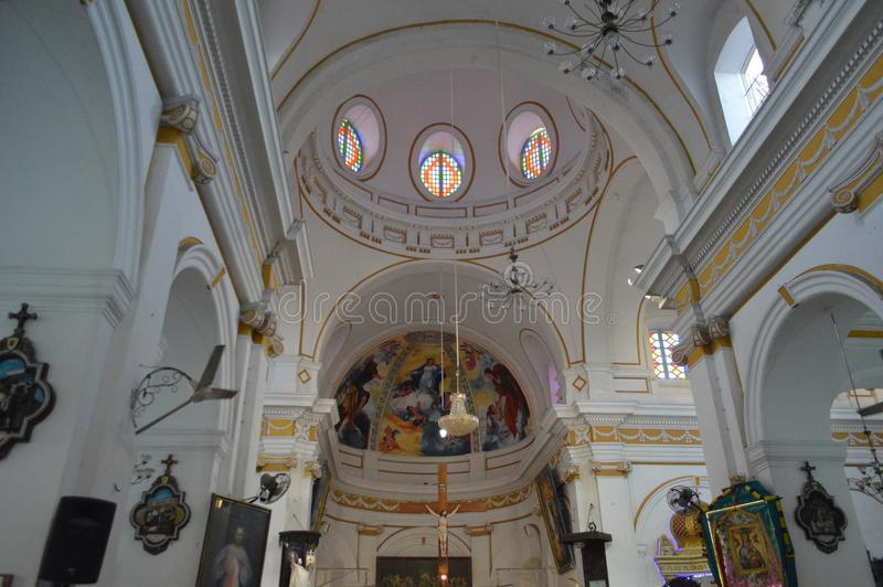Pondicherry, India. Immaculate Conception Church, Pondicherry, India royalty free stock image